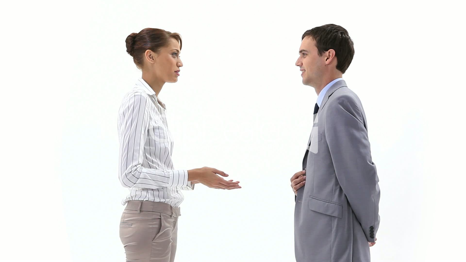 Two people communicating
